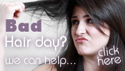 Having a bad hair day? Click here for advice to get it sorted...
